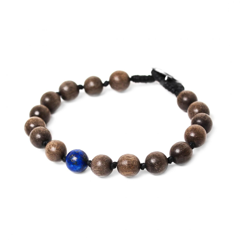 BOUTON bracelet lapis