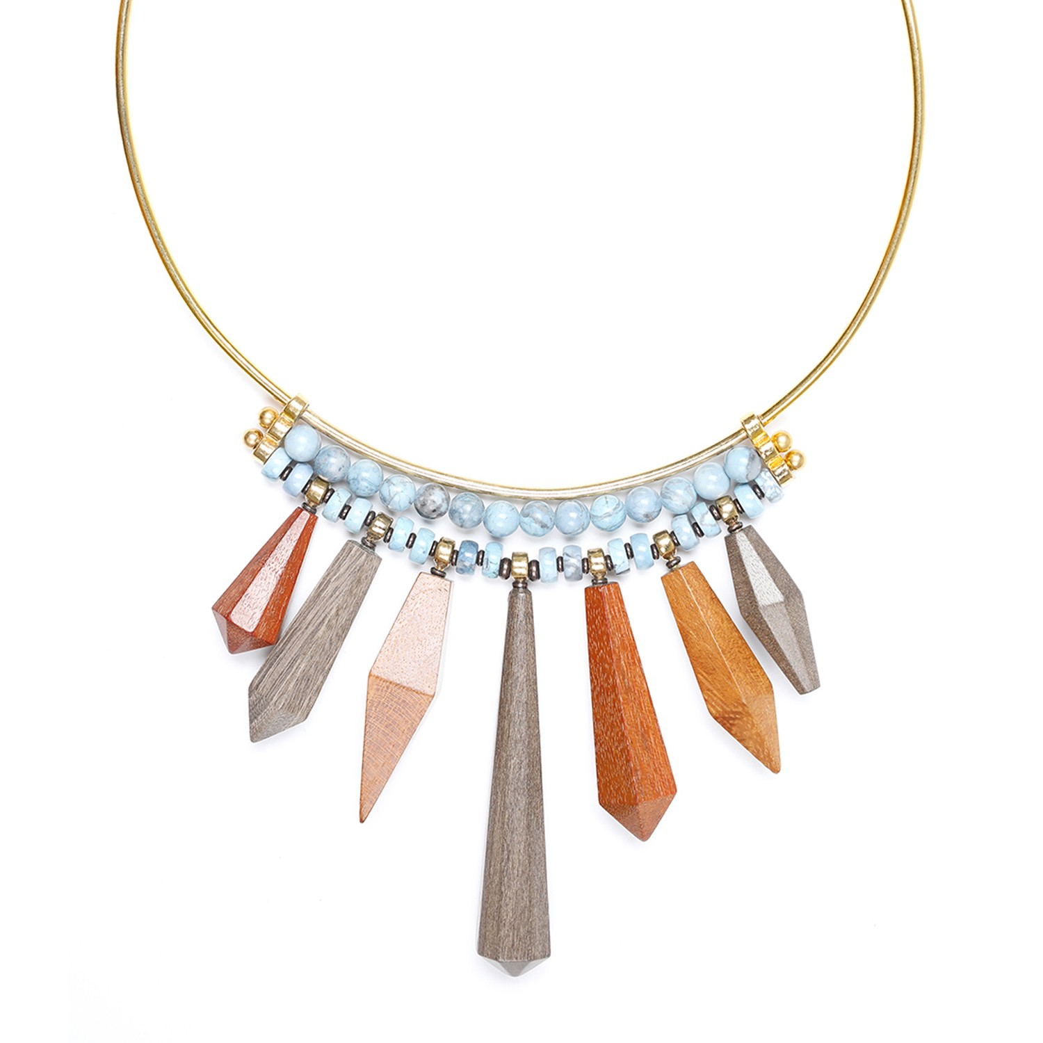 WOOD DIAMONDS LE collier