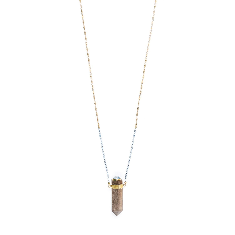 WOOD DIAMONDS long necklace