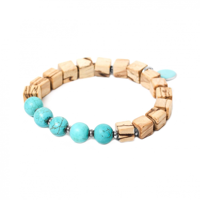 CUBES bracelet howlite turquoise