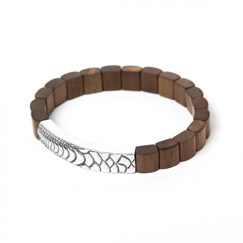 PATTERN bracelet ébène gris