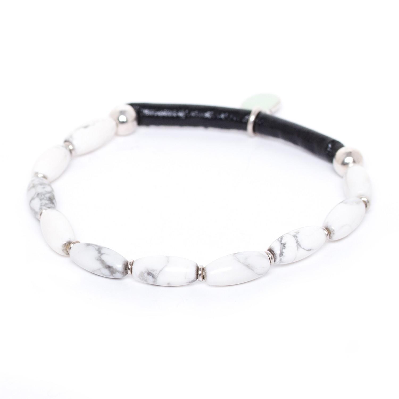 SUMATRA howlite half stretch bracelet