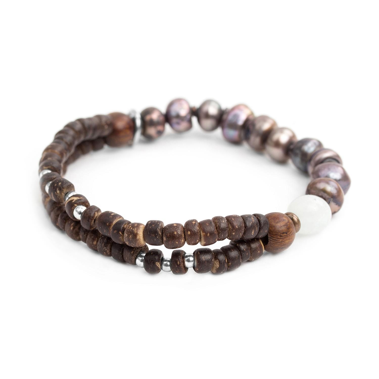 TAMAKO bracelet extensible perles de culture