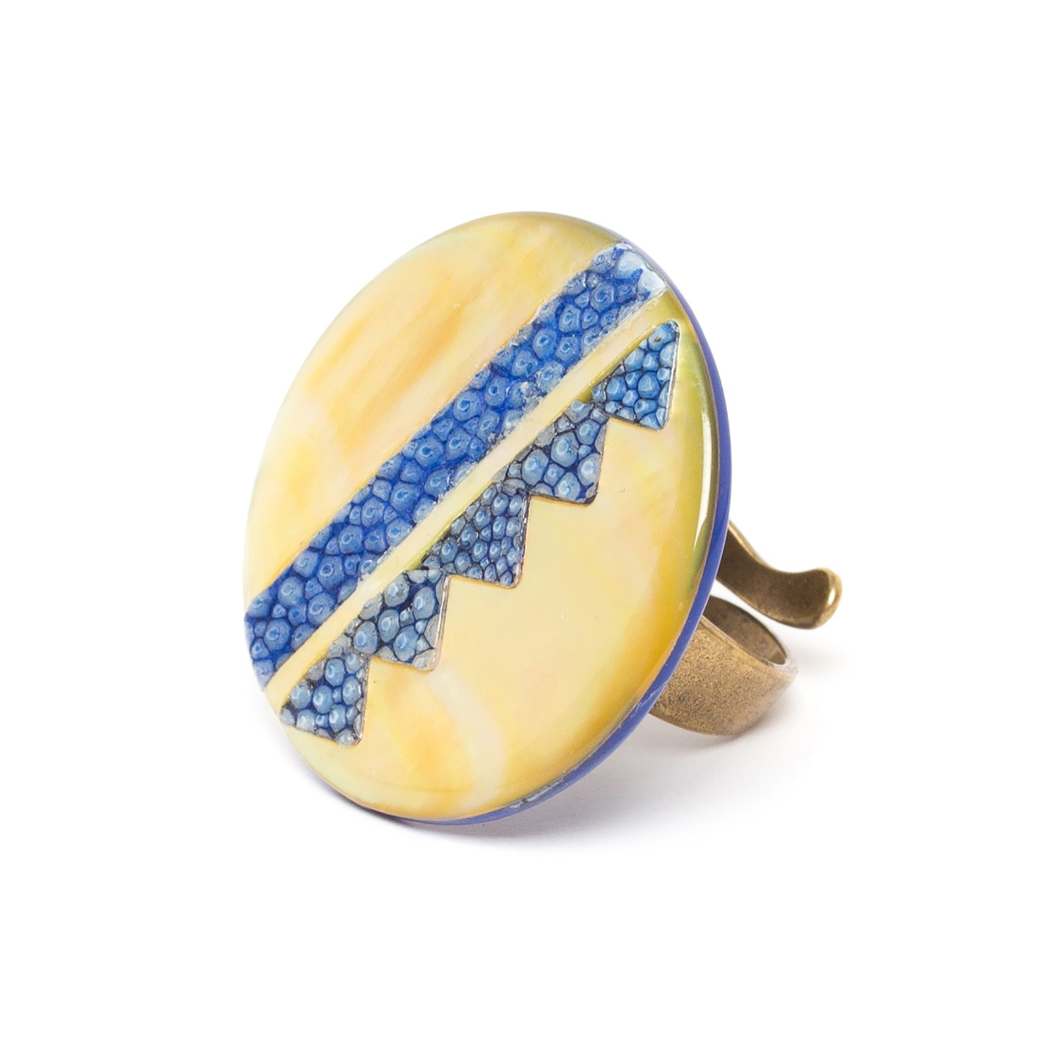 BLUE TRIBE grande bague ronde