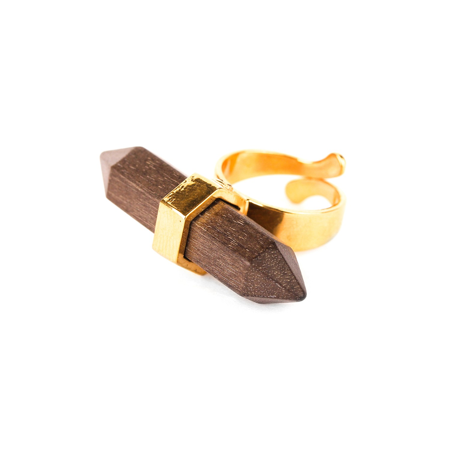 WOOD DIAMONDS greywood ring
