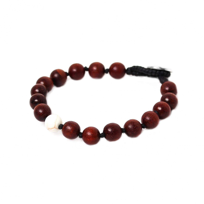 BOUTON bracelet howlite branche
