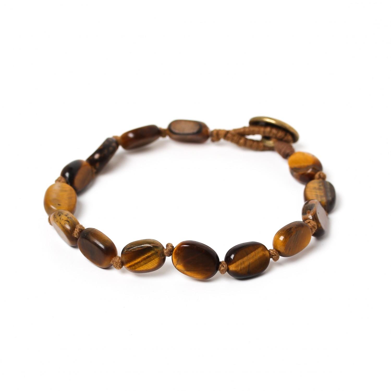 TIGER EYE bracelet petites perles ovales