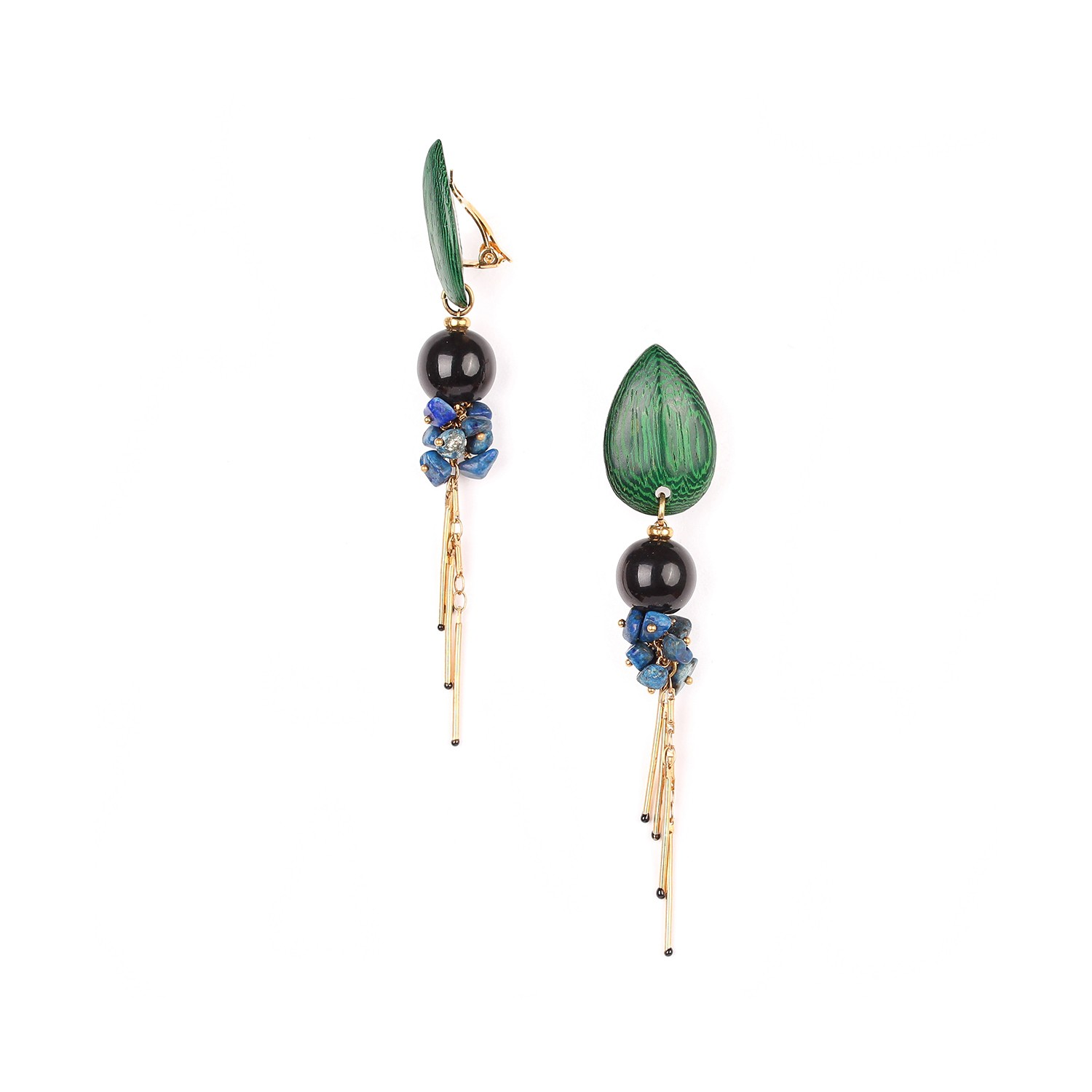 AGAPANTHE clips perle & grappe