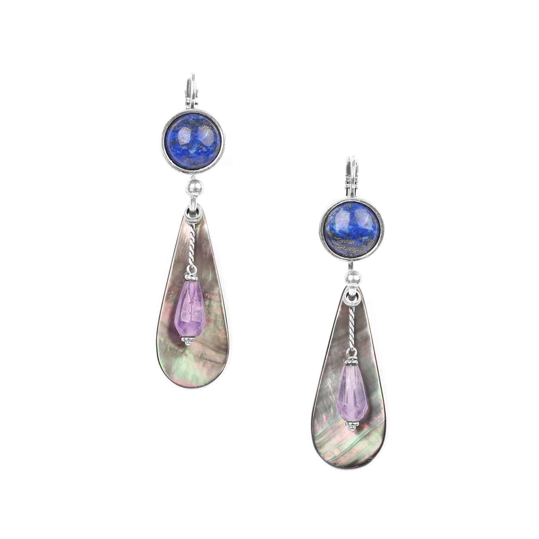 BAIKAL BO 2 gouttes cabochon lapis-lazuli