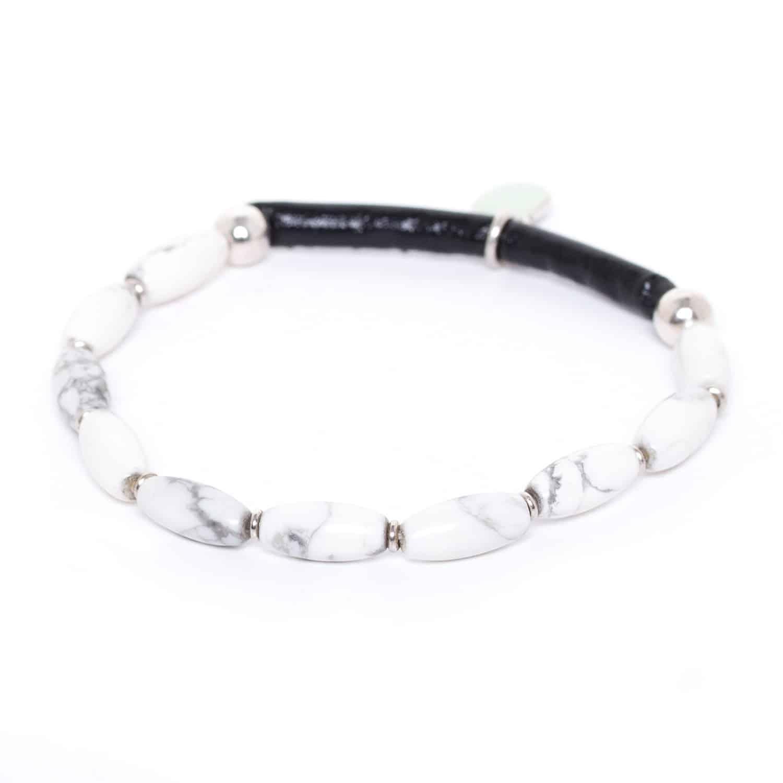 SUMATRA bracelet howlite semi-extensible