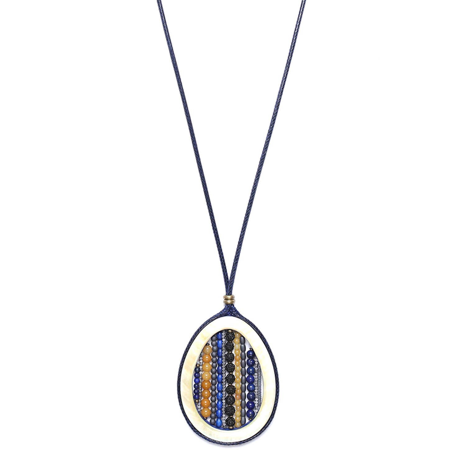 BLUE TRIBE long necklace