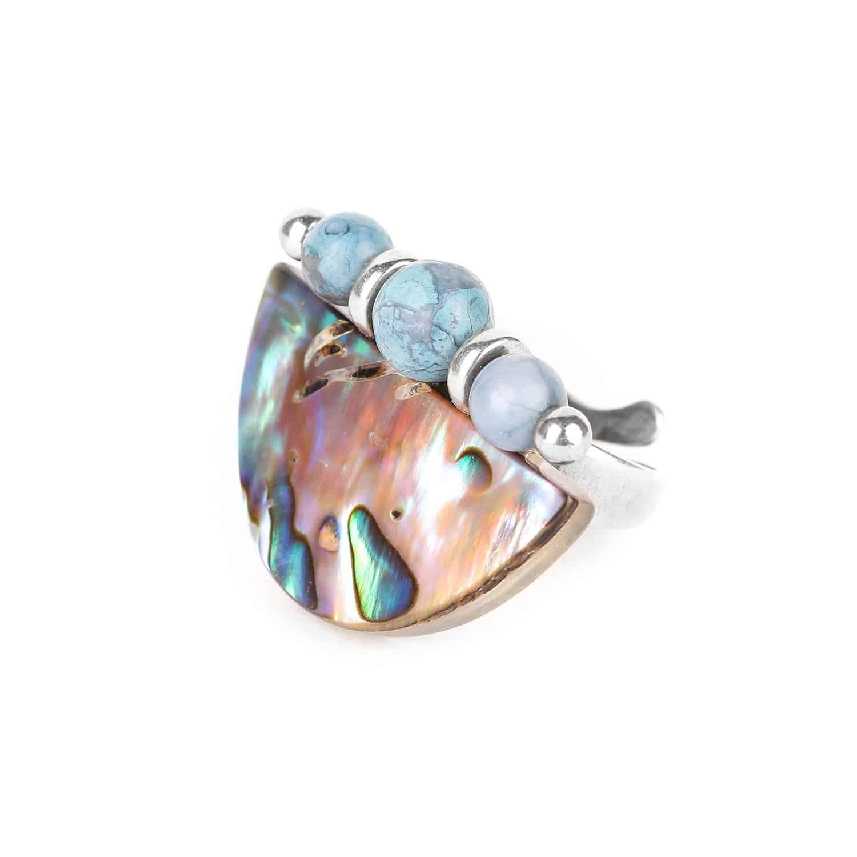 OKARITO 3 beads ring