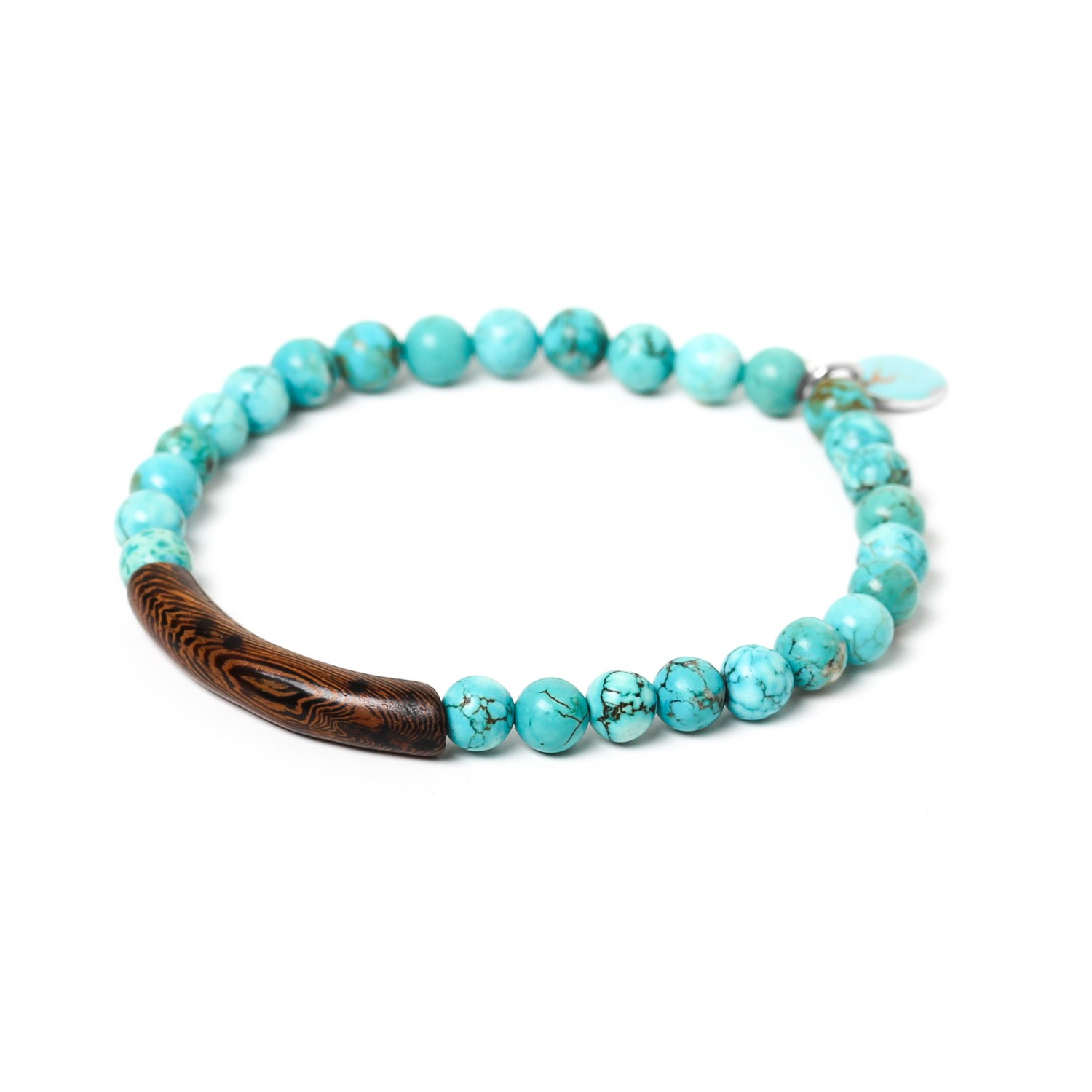 TUBE turquoise howlite stretch men bracelet