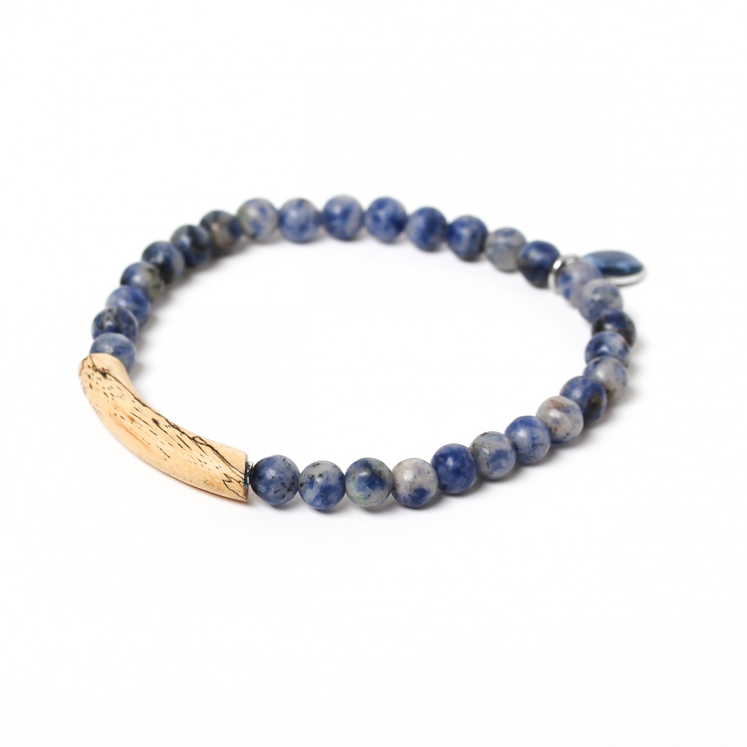 TUBE sodalite stretch men bracelet