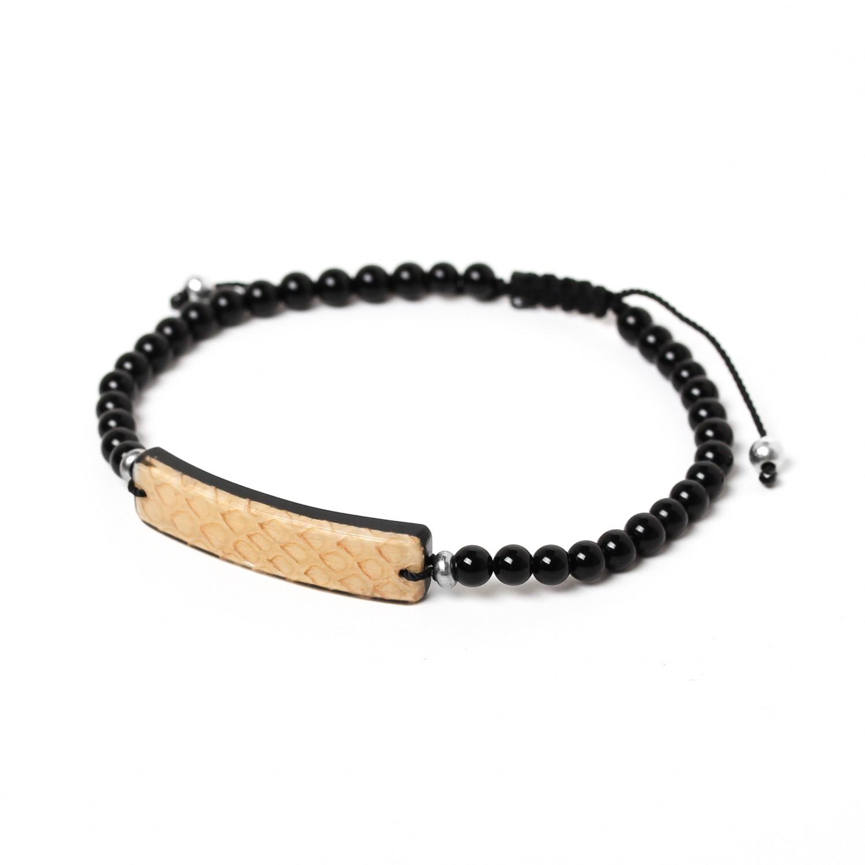 SERPENT beige men bracelet