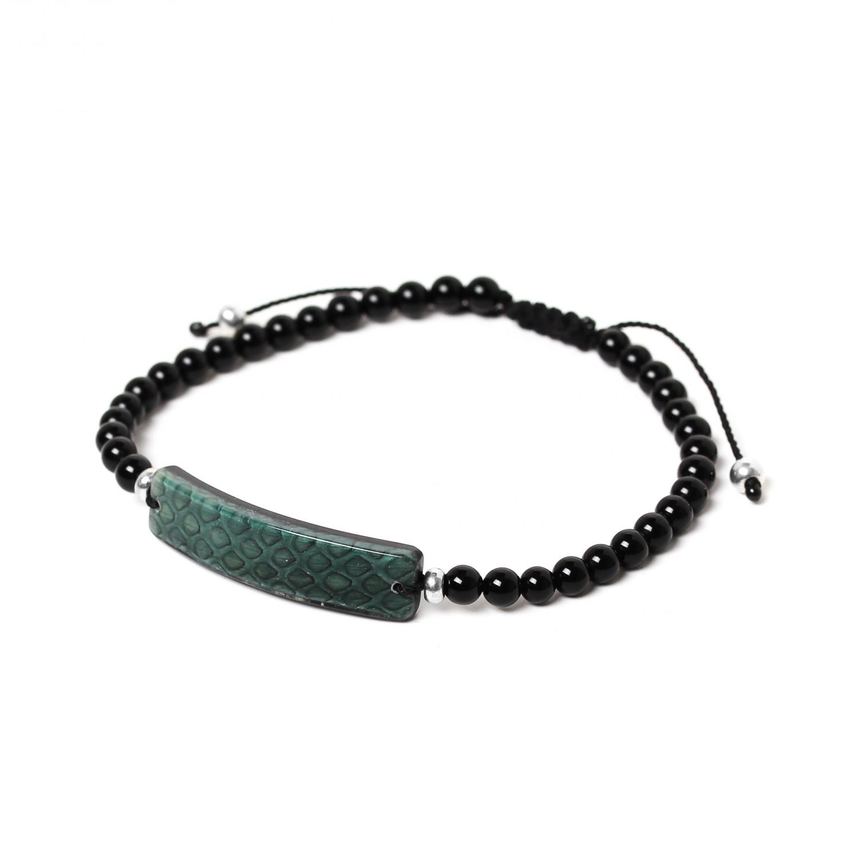 SERPENT green men bracelet
