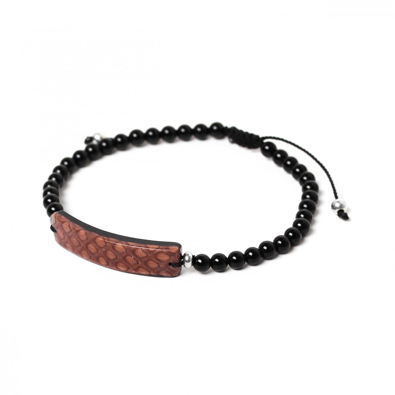 SERPENT brown men bracelet