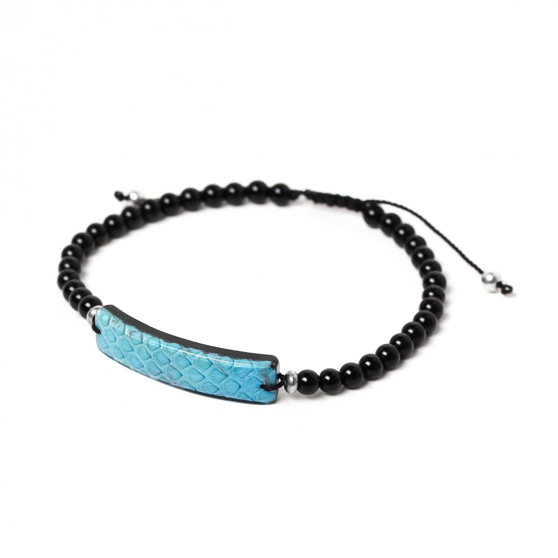 SERPENT turquoise men bracelet