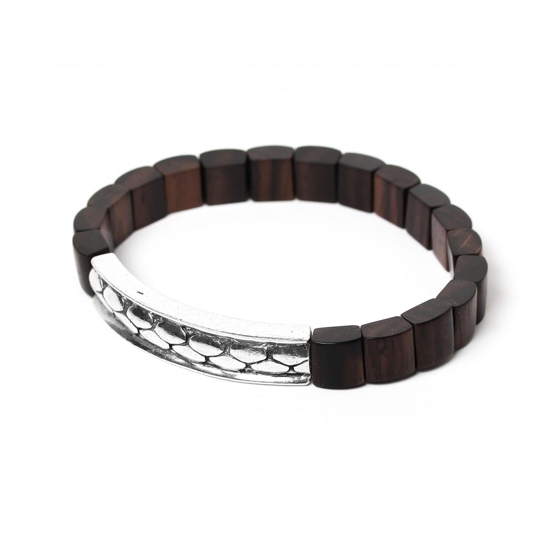 PATTERN black wood  men bracelet