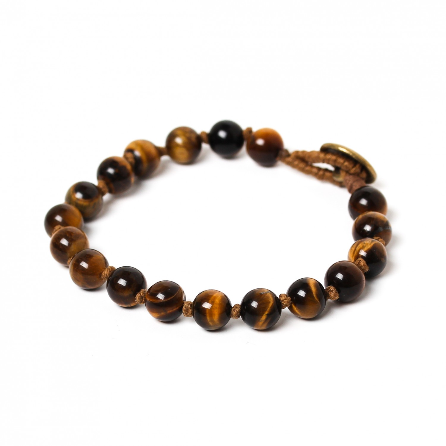 TIGER EYE bracelet homme perles 8mm