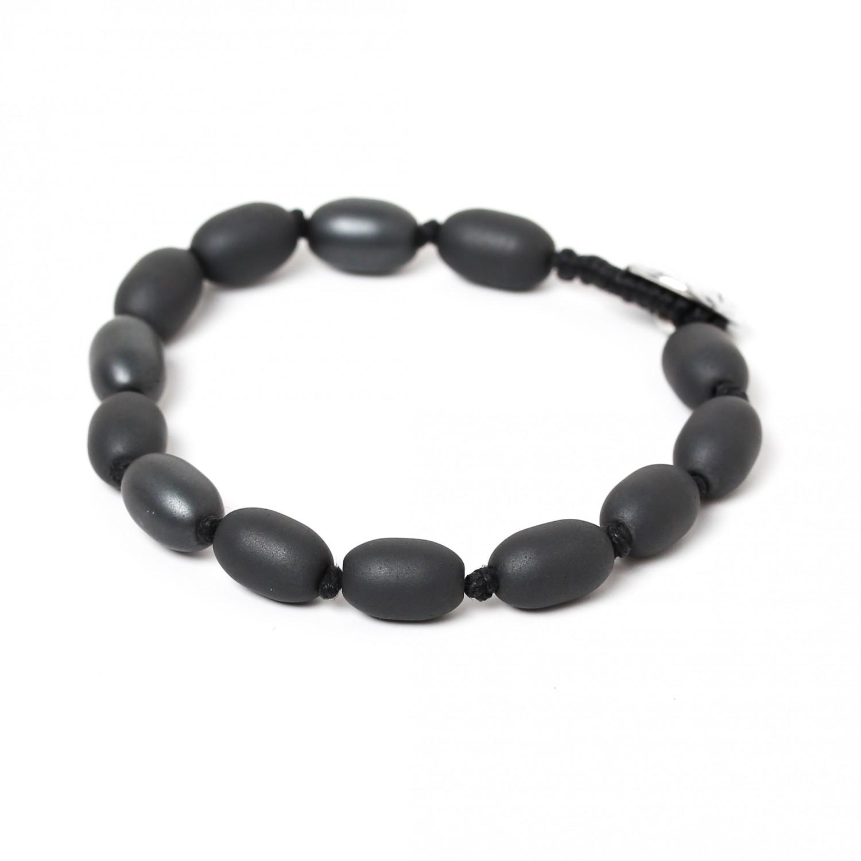 HEMATITE bracelet homme perles olive