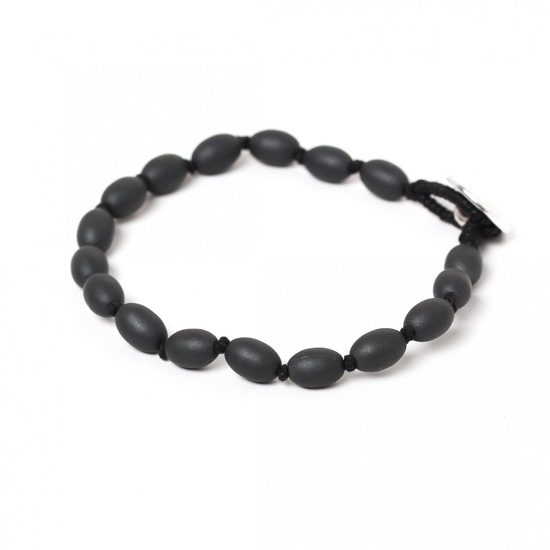 HEMATITE bracelet homme perles petites olives