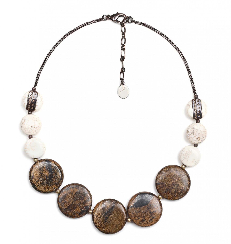 SAOURA round graduated necklace
