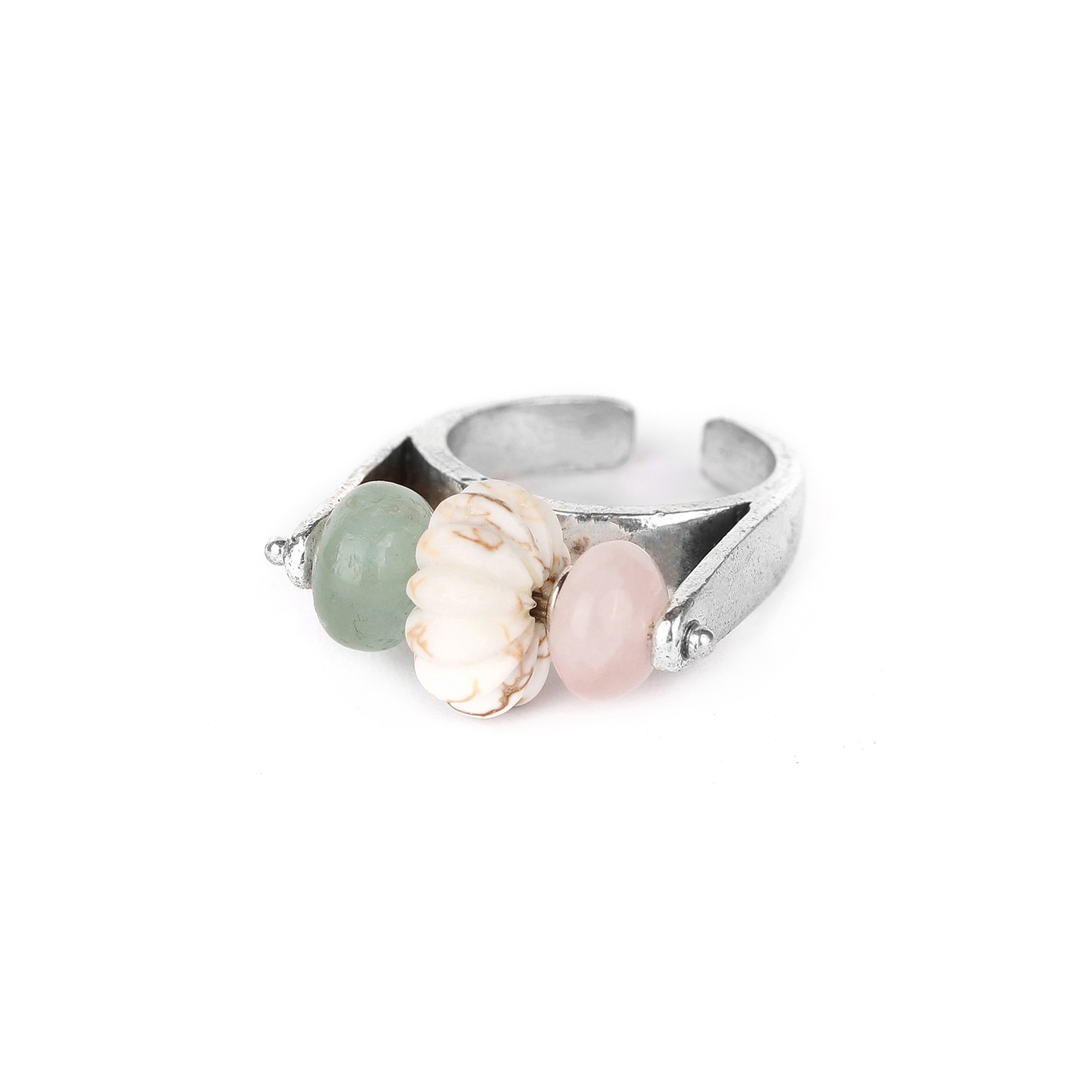 SECRET GARDEN bague 3 perles