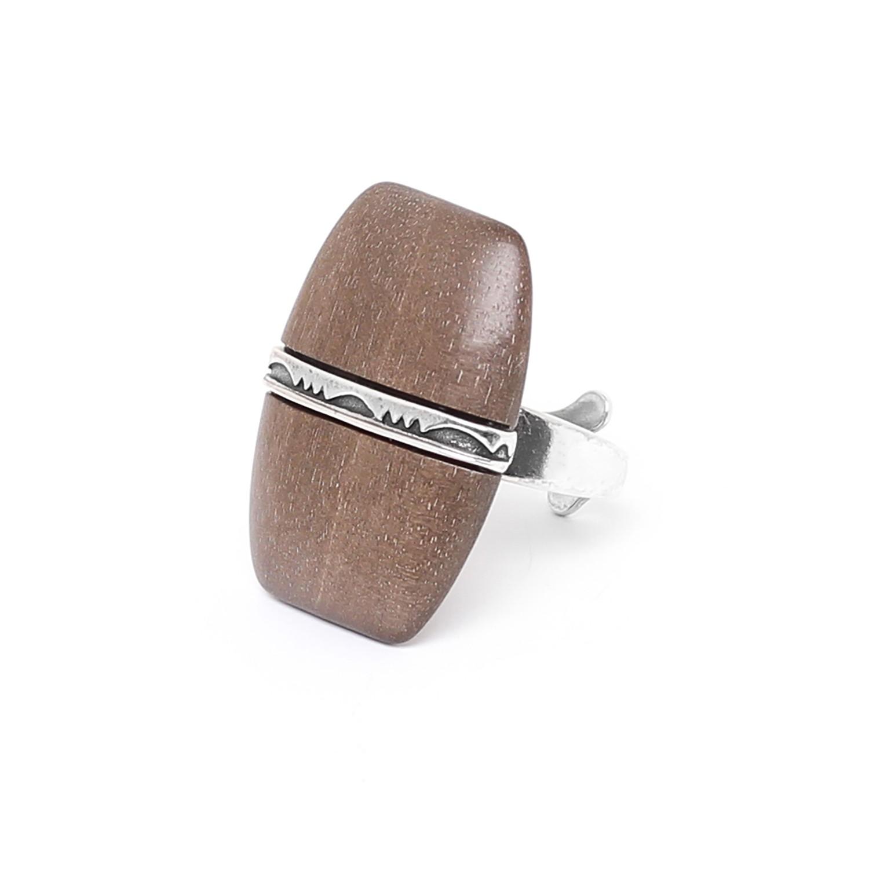 MAUNA LOA grey ebony ring