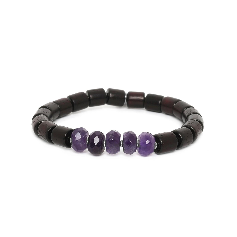SANTAL amethyst men bracelet