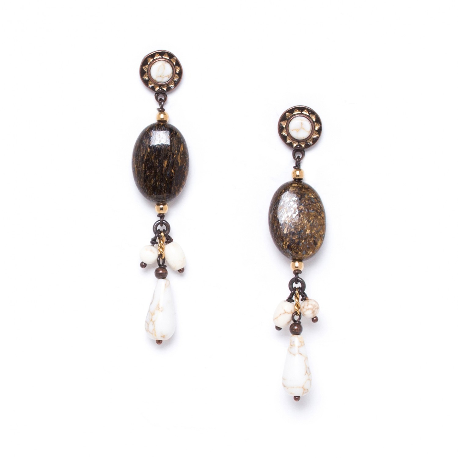 SAOURA 3 dangles on oval bead ER