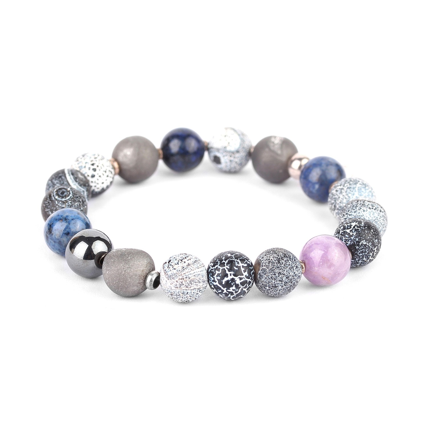 BAIKAL assorted beads stretch bracelet