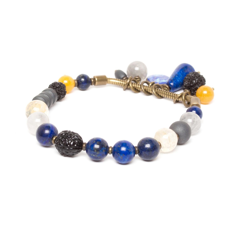 BLUE TRIBE stretch bracelet w/ dangles