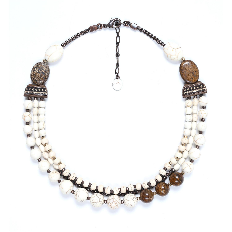 SAOURA 3 row necklace
