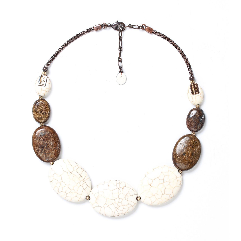 SAOURA oval graduated necklace