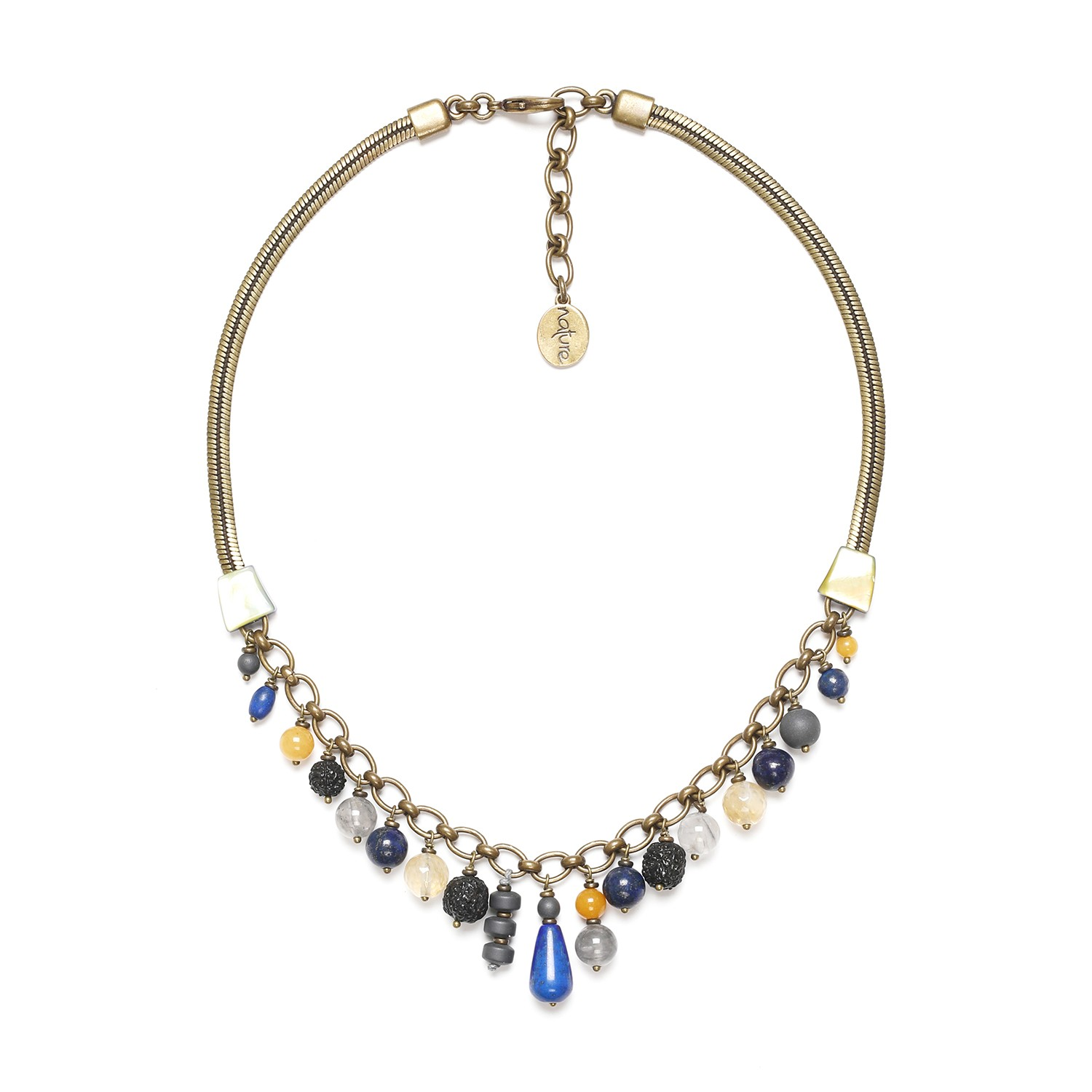 BLUE TRIBE dangles necklace