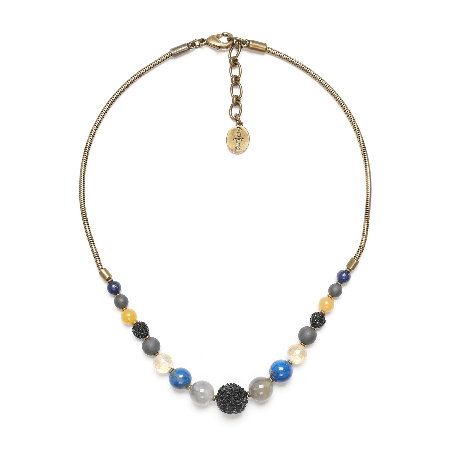 BLUE TRIBE graduated necklace