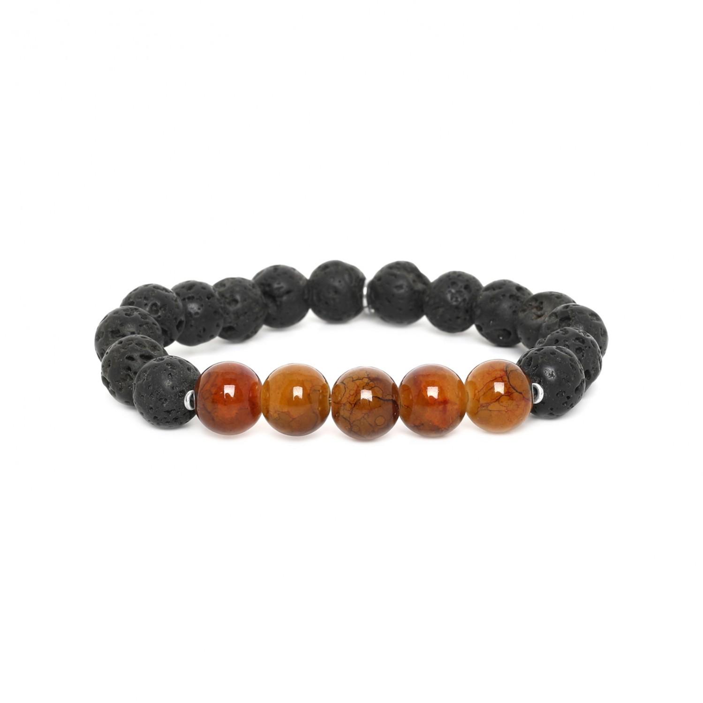 LAVA bracelet homme extensible caramel