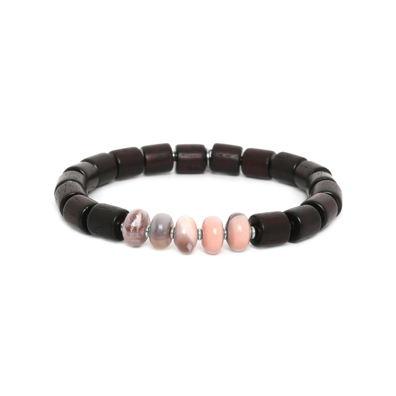 SANTAL bracelet homme agate du Botswana