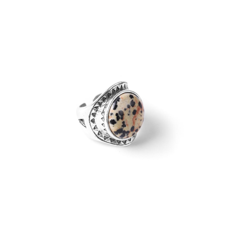 LES CHEVALIERES dalmatian jasper ring