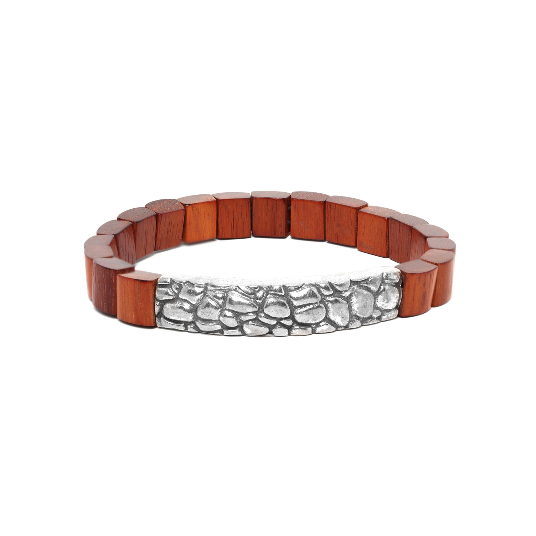 PATTERN bracelet homme bois rouge