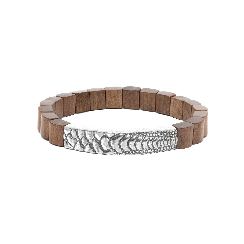 PATTERN bracelet homme ébène gris