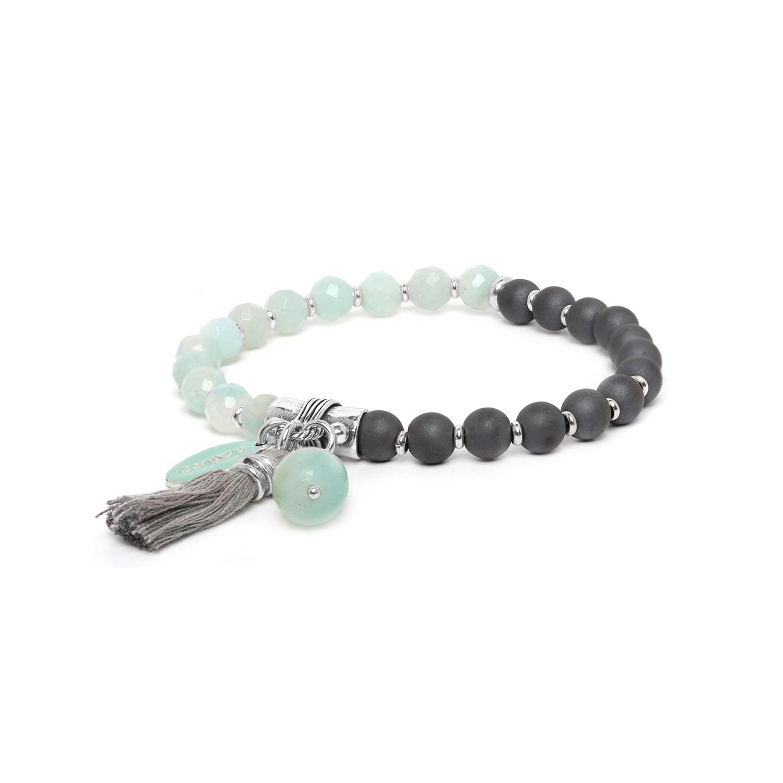 LES DUOS hematite & amazonite bracelet