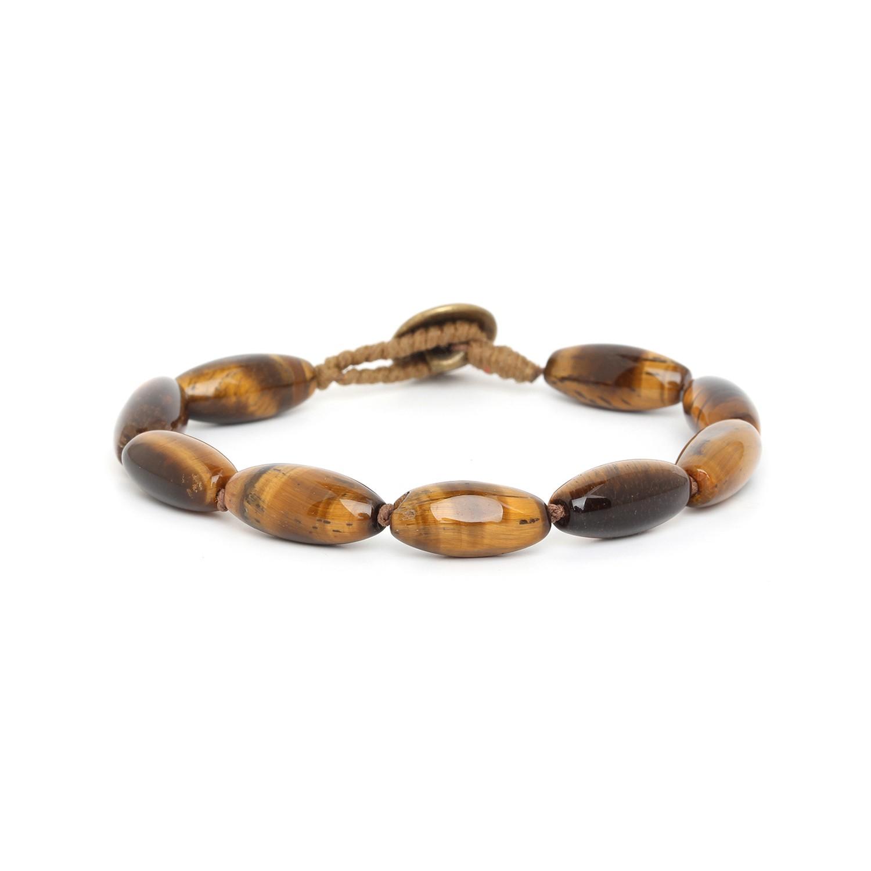 TIGER EYE bracelet homme olives