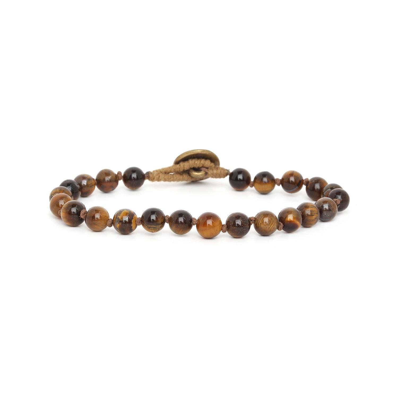 TIGER EYE bracelet homme perles 6mm