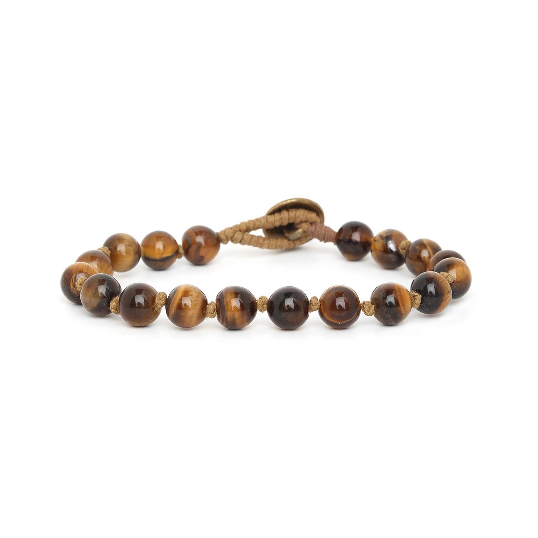 TIGER EYE bracelet homme perles 8mm