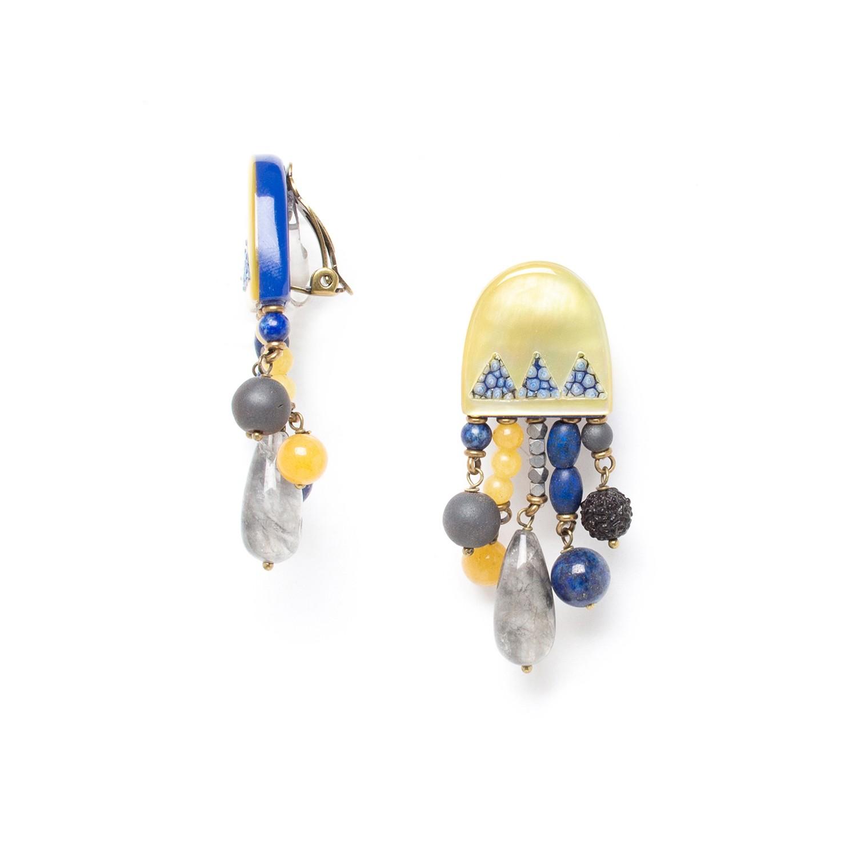 BLUE TRIBE dangles clips