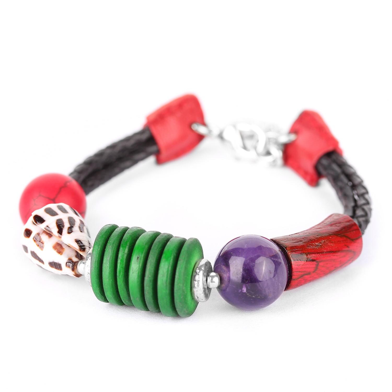 TERRE & MER bracelet cuir tressé