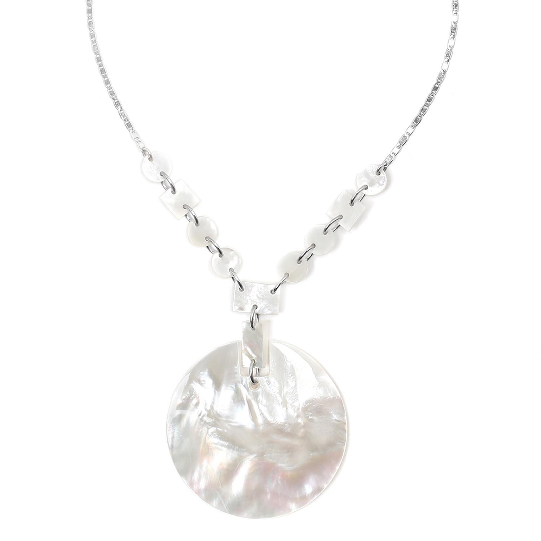 STOCKHOLM round pendant necklace