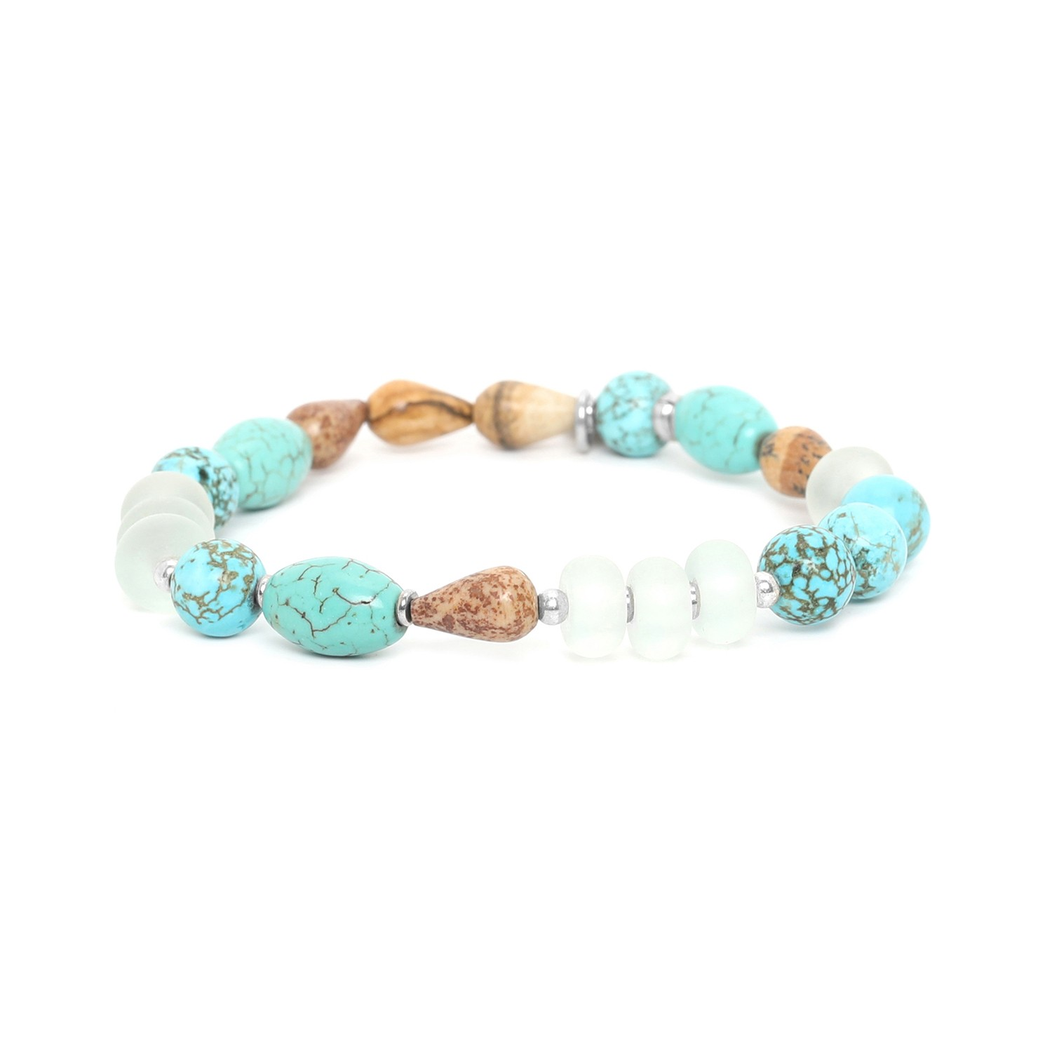 SURIGAO  mixed beads stretch bracelet